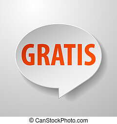 Gratis 3d Speech Bubble on White background