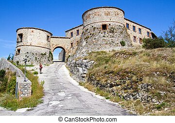 Torriana near Montebello, Italy - Torriana towers near...