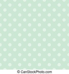 Vector mint green dots background - Seamless vector pattern...