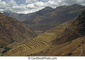 Pisac, Peru - Terracing in Pisac, Peru