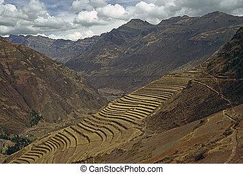 Pisac, Peru - Terracing in Pisac, Peru
