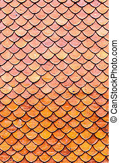 Orange brown clay roof surface seamless texture background