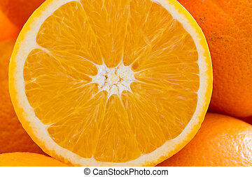 Fresh Oranges, Closeup, Format Filling