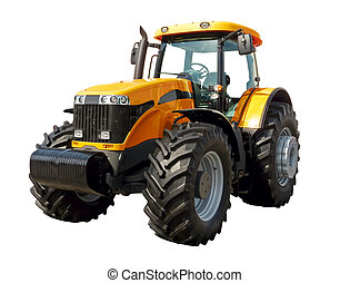 Farm  tractor on a white background