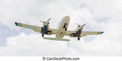 Small plane descending
