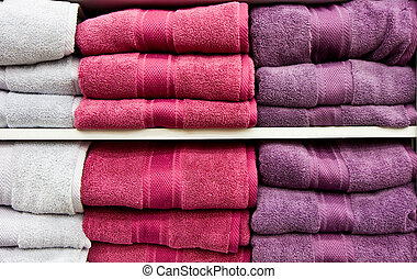 White and Purple Towels