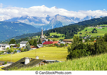 combloux village and Mont Blanc - famous and beautiful...