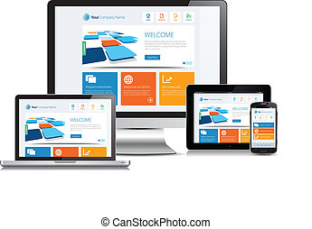 Responsive Design - This image is a vector file representing...
