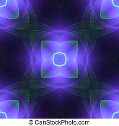 Violet Impression Abstract - Softly, threaded outlines,...