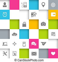 Infographic Design - Vector Infographic Design with squares...