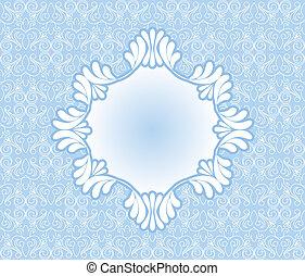 Vintage blue frame on background