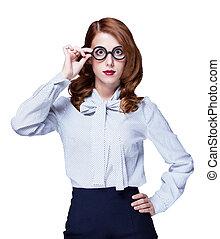 Redhead teacher