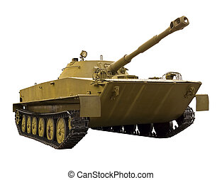Amphibious Tank - Floating tank  on a white background