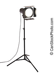 photograph studio flash with white background