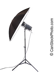 studio strobe isolated with white background