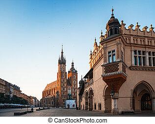 Morning in Krakow - Early morning in old Krakow Poland,...