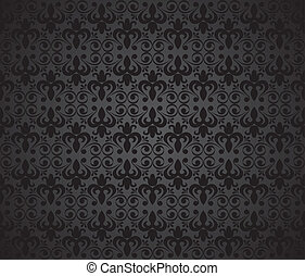 Black background, vector