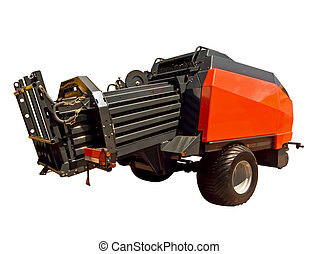 Baler - A baler is a piece of farm machinery used to...