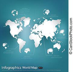 World map. Vector Illustration.