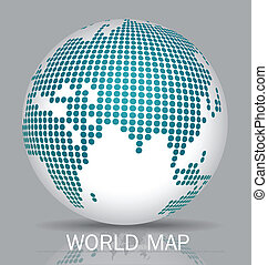 Dotted Globes Vector illustration
