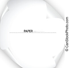 White note paper, ready for your message. Vector...