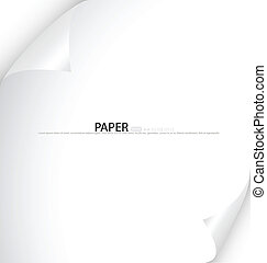 White note paper, ready for your message Vector illustration...