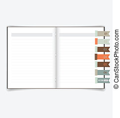 Notebook with reminder note Vector EPS10