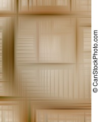 Brown Weave Abstract - Layered, woven streaks of brown -...