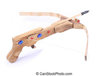 crossbow toy - a crossbow toy with white background