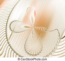 抽象的, 桃, 繊維