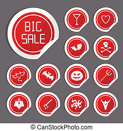 Halloween Sale Stickers