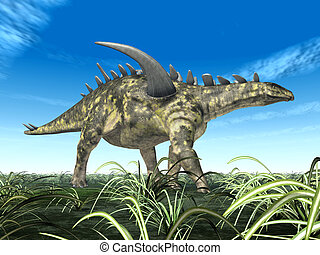 Dinosaur Gigantspinosaurus - Computer generated 3D...