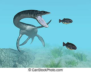 Plesiosaurus - Computer generated 3D illustration with the...