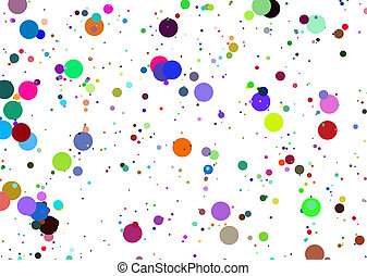 Paint - Colourful background with paint colour stains