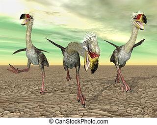 Terror Bird Phorusrhacos - Computer generated 3D...