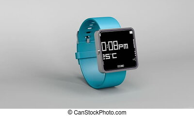 Smart watch on gray background