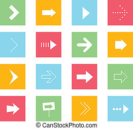 Vector Arrows Icons Set 1