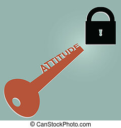 Attitude Key of Success - Illustration of Attitude key of...