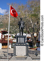 Ataturk on the main square of Kash, Turkey
