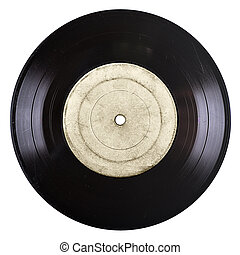old vinyil record - old vinyl record with blank label...