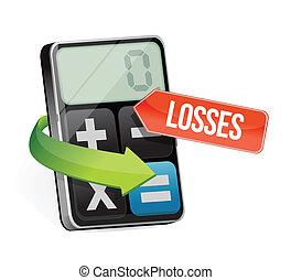 calculator losses illustration design