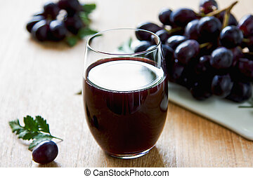 Grape juice - Fresh Grape juice by some Grape vines