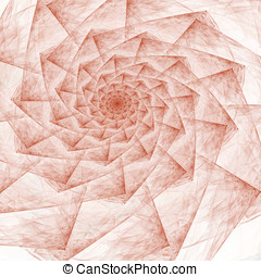 Distressed Spiral Abstract