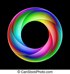 Colorful spiral ring - Illustration of spiral ring sparkling...