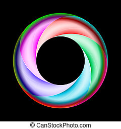 Colorful spiral ring - Illustration of colorful spiral ring...