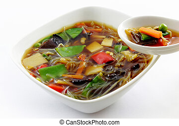 Peking soup - homemade fresh chinese peking soup with rice...