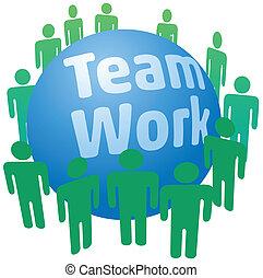 People work in teamwork team