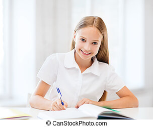 studieren, m�dchen, Schule, schueler