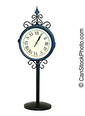 Old clock - Vintage style clock isolated with clipping path...