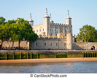 Tower of London - The Tower of London as seen from the River...